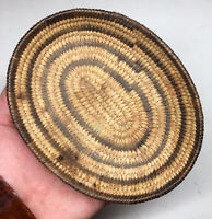 Shallow Finely Woven Native American Southwestern Basketry Pima Papago Apache