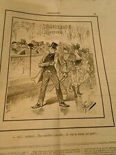 Caricature 1892 - Moulin Rouge Une Machine Infernale La mèche qui pend Chinois