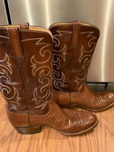 T.O. Stanley genuine Lizard Boots Brown