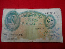 EGYPTE BILLET DE 50 PIASTRES 1949 A/48 243875 - REF31060