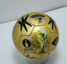 2x FIFA 2014 Brazil World Cup Gold Mini Soccer Balls Size 2 Futbol Pair