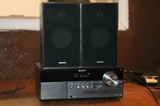 Sony CMT-MX500i Micro HI-FI Stereo System Speakers Remote iPod Dock CD Player