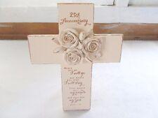 25th Anniversary Cross Table Top Resin Easel Dicksons Cream Rose Ruth 1:16