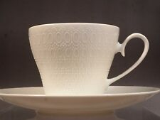 Vintage ROSENTHAL Bjorn Romance Coffee Tea Cup Saucer All White with Embossed