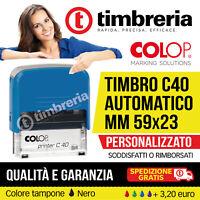 TIMBRO AUTOINCHIOSTRANTE AUTOMATICO 59x23 PERSONALIZZATO LOGO GRATIS! GARANZIA