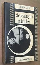 1973 S.Kracauer DE CALIGARI À HITLER cinéma allemand - expressionnisme