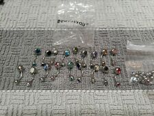 Steel Multi Color Crystal Navel BodyJ4You 23 piece Belly Button Rings