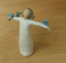 Willow Tree Happiness Figurine Demdaco Girl with Blue Birds 26130 Susan Lordi