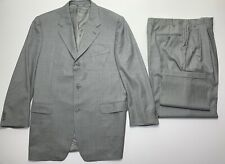 Canali Mens Gray Italian Made Wool Classic 2pc Suit 42L Jacket 36/32 Pants