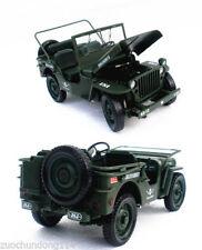 1/18 KDW WW2 US ARMY / MILITARY WILLYS JEEP METAL (no box)