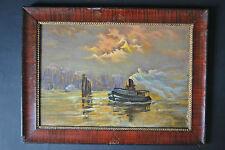 Künstlerische Malereien von 1900-1949 im Expressionismus-Seefahrt & Schiff-Motiv