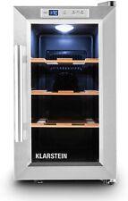 Klarstein Wine Cooler Freestanding Refrigerator Compressor Metal Silver
