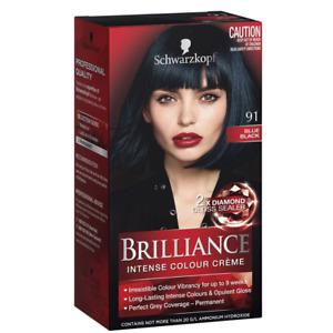 Schwarzkopf Brilliance Intense Hair Colour Crème - 91 Blue Black