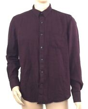 1d4c7de082e American Rag Cie Mens Slim Fit Long Sleeve Button Down Shirt Maroon Size  Large