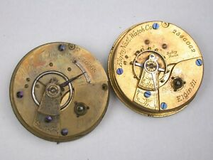 Elgin 18 Size Key Wind Pocket Watch Movements. 73H
