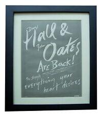More details for hall & oates+everything heart desires+poster+ad+original 1988+framed+fast ship