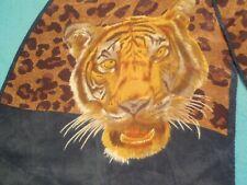 Vintage Ann Klein Silk Rolled Hem Tiger Scarf Scarf