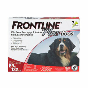 Frontline Plus for Extra Large Dogs 89-132 lbs 6 month XL AUTHENTIC NEW