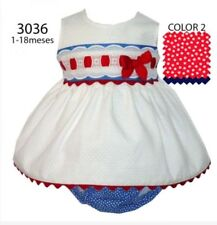 Alber Cotton Blend Casual Dresses (0-24 Months) for Girls