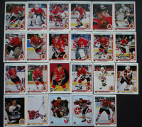 1990-91 Upper Deck UD Chicago Blackhawks Team Set of 23 Hockey Cards