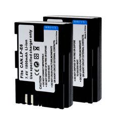 2 Pack LP-E6 LPE6 LP-E6N Batería para Canon EOS 5D2 5D3 7D 60D LC-E6E