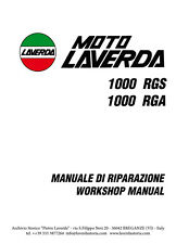 Moto Laverda 1000 RGS - RGA  manuale di riparazione - workshop manual