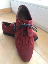 Budapester Style Schuhe Rot Rockabilly Damen Gr. 39 Divided H&M - NEU-