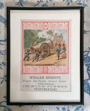 More details for antique advertising - 1882 calendar - tea dealer - framed and glazed (a)