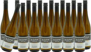 (15 x 0,75l) 20er Rivaner Kabinett trocken Prädikatswein Gutsabfüllung Kopp