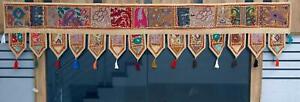 Indian Embroidered Toran Door Hanging Vintage Patchwork Valances Wall Hanging