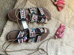 Sam Edelman Boho Sandals. Lace Up. Size 6.5