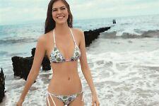 Ellipse Bikini Silver-Sands triangle top wit/zilver 36 38 M NEW