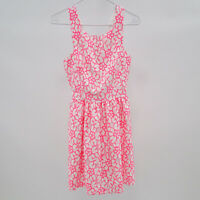 Lilly Pulitzer Dress Womens Fit Flare Fiesta Lace Neon Pink White Sz 00