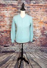 Brooks Brothers Scotland Women's Blue ITALIAN CASHMERE Cardigan Sweater Sz XS