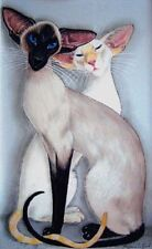 Siamese Cat art print large signed from original painting by Suzanne Le Good