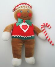 1990 Vintage Target GINGERBREAD MAN w Candy Cane Stuffed Plush 14""