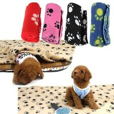 Cat Paw Prints Pet Dog puppy Fleece Bed Blanket Kitten Soft Mat Car-Seat Cover ;