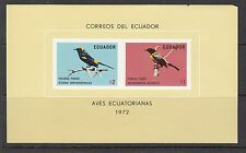 ECUADOR Sc 876/80 NH 2 SOUVENIR SHEETS of 1973 - BIRDS