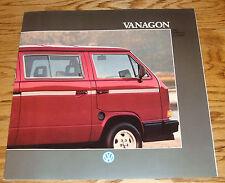 Original 1988 Volkswagen VW Vanagon Deluxe Sales Brochure 88