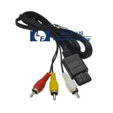 RCA to AV Audio/Video TV Composite Cable Cord for Nintendo GameCube N64 SNES