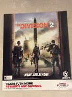 "Tom Clancy's The Division 2 Gamestop Promo Poster 24x28"" Ps4 XBOX Game Art"