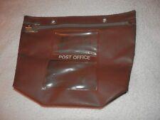 Tan Brown Leatherette POST OFFICE Zip Front Bag ENVOPAK