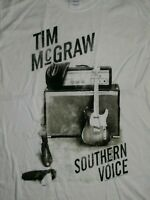 TIM MCGRAW SOUTHERN VOICE 2010 TOUR T-Shirt MENS L RARE COUNTRY MUSIC