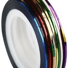 10 Roll Mix Color Nail Art Tape Lace Line Design Sticker DIY For Gel Polish