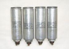 (4) Cornell Dubilier 4mf 600v Round Oil Capacitors for Tube Amps