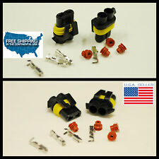 2pc 9006 HB4 Female connectors replacement HID Wire Plugs waterproof socket USA!