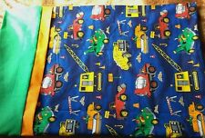 Dump Trucks Road Construction Signs Boys Pillowcase embroidered