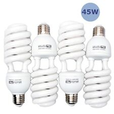 StudioPRO 4x 45W CFL Compact Fluorescent Full Spectrum Photo Light Bulb 5500K
