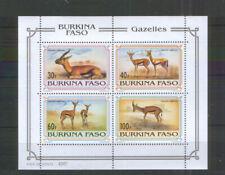 Burkina Faso Block 139 ** Gazellen (1993)