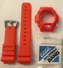 CASIO Original G-Shock Watch Band DW-6900MM-4 dw-6900mm Orange Strap & Bezel